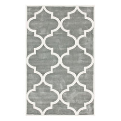 nuLOOM - 9'x12' Slate Hand Tufted Area Rug Trellis - Made from the finest materials in the world and with the uttermost care, our rugs are a great addition to your home.