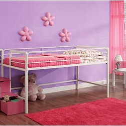 Dorel Home Junior Loft with Steps and Storage - Pink - Little girls will adore the Dorel Home Junior Loft with Steps and Storage - Pink because, well, it's cute as a button and pretty in pink, and also because it makes a great space saver. Keep toys and other items underneath the bed or in the drawers of the handy steps. Moms and dads will like it, too, because it will help keep their little girls' room organized and neat. Plus, there's no need for a box spring, since the frame support a standard twin-size mattress.About Dorel IndustriesFounded in 1962, Dorel Industries is a family of over 26 brands, including bicycle brands Schwinn and Mongoose, baby lines Safety 1st and Quinny, as well as home furnishing brands Ameriwood and Altra Furniture. Their home furnishing division specializes in ready-to-assemble pieces, including futons, microwave stands, ladders, and more. Employing over 4,500 people in 17 countries and over four continents, Dorel is renowned for their product diversity and exceptionally strong commitment to quality.