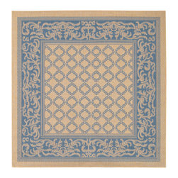 """Couristan - Recife Garden Lattice Rug 1016/5500 - 7'6"""" x 7'6"""" - These weather-defying area rugs are suitable for indoor and outdoor use. You'll love the way they color-coordinate with today's most popular outdoor furniture pieces. The collection's naturally inspired color palette will provide a warmer and more inviting appearance for patio decks and stone entryways."""