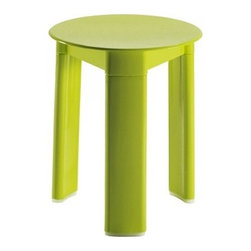 Gedy - Acid Green Circular Stool Made From Thermoplastic Resins - Made in thermoplastic resins and coated in acid green. This floor standing round bathroom stool (part of the Gedy Trio collection) is best in your contemporary personal bath. Manufactured in Italy by Gedy. Capable of holding 220 lbs. Bathroom Stool for a