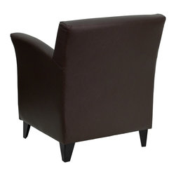 Flash Furniture - Flash Furniture Accent Chair X-GG-NWORB-NAMOR-BZ - The Roman Chair offers dignified seating at a reasonable price. The flaired arms and high legs will make it a staple in your waiting room or office space. [ZB-ROMAN-BROWN-GG]