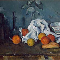 Still Life with Fruit | Paul Cezanne | Painting Reproduction - Paul Cezanne - Still Life with Fruit, c.1879 - Hand-Painted Oil Painting Reproduction.