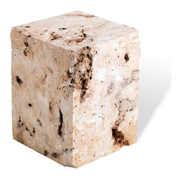 Interlude - Interlude Zara Stone Side Table - Crafted of cheese stone, the Zara Stone Side Table is at once primitive and sophisticated.