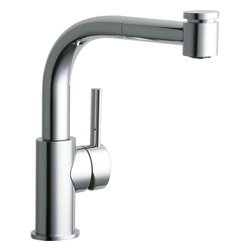 Elkay - Pulldown Bar Faucet - 37224 - CR - Product height: 12. Product min width: 19.7. Product depth: 33.5 pulldown bar fct - 37224 - cr. Mystic sinks and faucets take their cue from water itself with naturally flowing shapes and an organic feel. The resulting gentle designs stand out to make a distinctive yet softened transitional statement. The Mystic pull-out bar / prep faucet deck mount pull-out spray.
