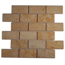 Tile JERUSALEM GOLD 2X4 BEVELED MARBLE TILES