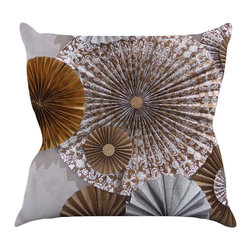 """Kess InHouse - Heidi Jennings """"Venice"""" Brown White Throw Pillow (16"""" x 16"""") - Rest among the art you love. Transform your hang out room into a hip gallery, that's also comfortable. With this pillow you can create an environment that reflects your unique style. It's amazing what a throw pillow can do to complete a room. (Kess InHouse is not responsible for pillow fighting that may occur as the result of creative stimulation)."""