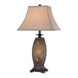 Lite Source - Lite Source LS-C41160 Asian / Oriental Two Light Ambient Lighting Table Lamp - Two Light Table Lamp from the Jaquan Collection