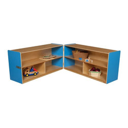 Wood Designs - Wood Designs 24H in. Folding Versatile Storage Unit - WD12530B - Shop for Childrens Toy Boxes and Storage from Hayneedle.com! About WDM Inc.For 30 years Wood Designs has put passion for the enrichment and safety of children into quality wooden early learning furniture. Dennis and Debbie Gosney the couple behind this labor of love have taken their 50 years combined experience in child development furniture manufacturing and built a company at the forefront of innovation and safety. Intuitive design coupled with novel safety features like Pinch-me-not hinges and Tip resistant furniture set Wood Designs apart from the typical early learning furniture manufacturers.
