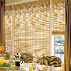 Kauai Reeds Pecan - Pacifica Collection - Kauai Reeds Pecan Natural Roman Shade from our Pacifica Collection from Next Day Blinds