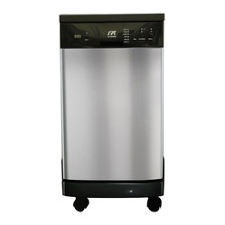 18-inch Portable Dishwasher - Short on space, not on dirty dishes? With a quick and easy connection to your kitchen faucet, this ingenious portable appliance gets up to eight standard place settings sparkling clean. When done, simply wheel away and store out of sight.