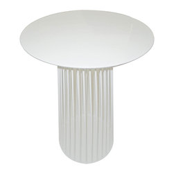 "Moe's Home Collection - Cleo Bar Table White - Cleo Bar Table White. MDF top with metal frame. Dimensions: 28""W x 28""D x 40""H."