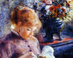 """Pierre Auguste Renoir Young Woman Sewing - 16"""" x 20"""" Premium Archival Print - 16"""" x 20"""" Pierre Auguste Renoir Young Woman Sewing premium archival print reproduced to meet museum quality standards. Our museum quality archival prints are produced using high-precision print technology for a more accurate reproduction printed on high quality, heavyweight matte presentation paper with fade-resistant, archival inks. Our progressive business model allows us to offer works of art to you at the best wholesale pricing, significantly less than art gallery prices, affordable to all. This line of artwork is produced with extra white border space (if you choose to have it framed, for your framer to work with to frame properly or utilize a larger mat and/or frame).  We present a comprehensive collection of exceptional art reproductions byPierre Auguste Renoir."""