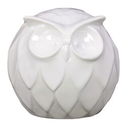 Urban Trends Collection - Ceramic Owl Decoration - Add an adorable accent to your home with this white ceramic owl. Trendy with delicate features, this piece is the perfect addition to your decor.