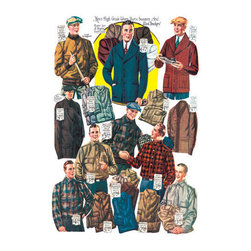 Buyenlarge - Mens Shirts Sweaters and Wind Breakers 24x36 Giclee - Series: Male Fashion