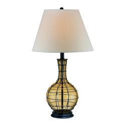 Lite Source - 1 Light Table Lamp With White Fabric Shade - To put it plainly and simply, Lite Source is a quality manufacturer of a vast selection of both beautiful and affordable interior lamps, not to mention a small number of other household items.