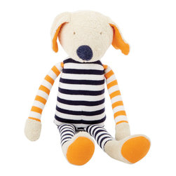 Better Basics Buddy the Dog, Navy/Orange - Decorating with stripes is all the rage! Get your little trendsetter started from an early age with this 100 percent organic cotton pup.
