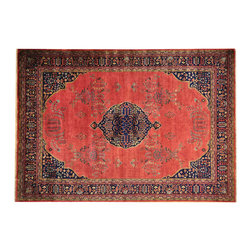 """Oriental Rug Galaxy - 8'2"""" x 11'7"""" Red Sarouk 300 kpsi Hand Knotted New Zealand Wool Oriental Rug - Our fine Oriental hand knotted rug collection consists of 100% genuine, hand-knotted and hand-woven rugs from Persia, China, and other areas throughout Asia. Classic, traditional, and offered in a wide range of elaborate designs, every handmade rug is guaranteed to serve as a beautiful and striking element in any interior setting."""