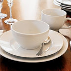 Great White Dinnerware, 20-Piece Cereal Bowl Set - Our Great White Dinnerware is essential for everyday use and beautiful enough for any occasion. It's generously sized to make a statement, and pairs easily with all colors and textures. Made of high-fired, hand-glazed porcelain. 16-piece set includes 4 dinner plates, 4 salad plates, 4 bowls and 4 mugs. 20-piece set includes 4 dinner plates, 4 salad plates, 4 bowls, 4 mugs and 4 saucers. Microwave and dishwasher safe.