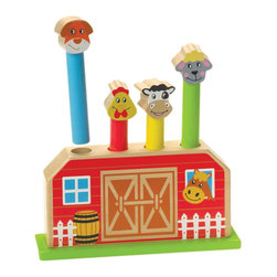 The Original Toy Company - The Original Toy Company Kids Children Play Pop Up Farm - This traditional wooden toy has amused toddlers for years, along with being the number 1 product recommend by therapist. The 4 figures spring up and down, thru a concealed spring within the base of the toy. This classic toy will be ideal for developing hand/ eye coordination and fine motor skilld. Recommended for ages 0 to 1. Weighs approximately 3.00 pounds.