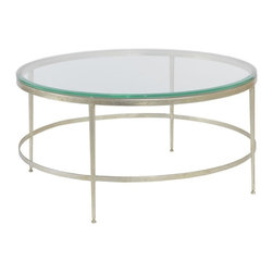 EuroLux Home - Modern Round Cocktail Table Beveled Glass - Product Details