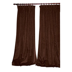 Chocolate Velvet Blackout Drapery Panels