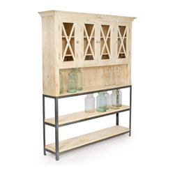 Sheridan Cabinet   Bookshelf - Sheridan Cabinet   Bookshelf is amazingly designed with steel ,wood and has hand rubbed wood finish.It has hand wood rubbed finish top and steel base.Perfect for your home.