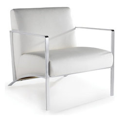 Nuevoliving - Nuevo Living Risa Lounge Chair - Black Color - Chromed steel frame.