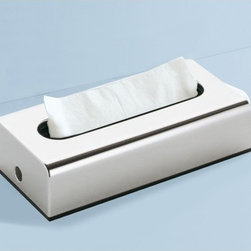 Gedy - Rectangular Tissue Box Cover In Chrome Finish - Just the kleenex box cover for a more contemporary personal bath - begin with this kleenex box cover. This free standing rectangle tissue box cover is available in chrome and made in high-quality thermoplastic resins. Made in Italy by Gedy. Kleenex box cover from the Gedy Sector Range collection. Made in thermoplastic resins and coated in chrome. High-end contemporary kleenex box cover for your high-end personal bath. Imported from and manufactured in Italy.