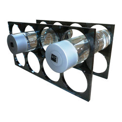 Boom - Stacking Wine Rack, Smoke Gray - Stack your bottles vertically or horizontally (depending ...