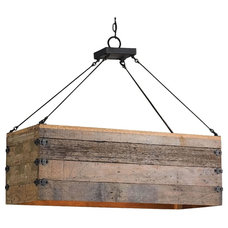 Rustic Kitchen Island Lighting by AES Mobile Studios