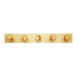 Joshua Marshal - Five Light Polished Brass Vanity - Five Light Polished Brass Vanity