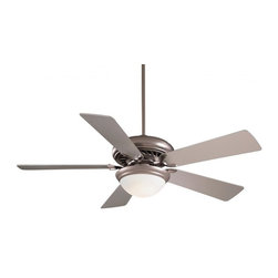 Minka-Aire - Minka-Aire Supra Uni-Pack 1-Light Brushed Steel Ceiling Fan - F569-BS - This 1-Light Ceiling Fan is part of the Supra Uni-pack Collection and has a Brushed Steel Finish.