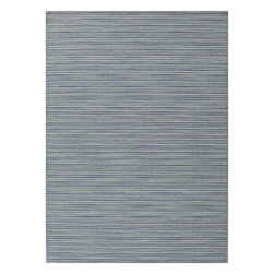 Jaipur Rugs - Flat Weave Stripe Pattern Blue Wool Handmade Rug - CC03, 4x6 - Fashion-forward color and a soft texture highlight the relaxed sophistication of the Coastal Living Dhurries Collection. Ideal for any casual lifestyle, the boldly striped, flat-woven pieces are easily cleaned - ideal for lounging after a day spent at the beach.