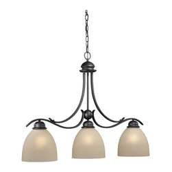 Vaxcel - Avalon Oil Burnished Bronze 25.5 in. Kitchen Island Light - Dimensions: 36 in. W x 8 in. L x 25.5 in. H.