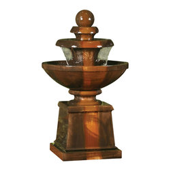 """Cresere Outdoor Fountain, Sierra - This """"traditional"""" inspired fountain sheaths water every so greatly to provide a great sound for you and your company to enjoy. Also see our other """"traditional"""" style fountain, the Liveo Garden Fountain."""