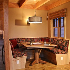 Rustic Family Room by Rangeley Building & Remodeling