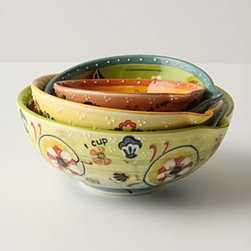 Anthropologie - Izmir Measuring Cups - Set of fourStonewareDishwasher and microwave safeImported