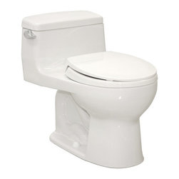 """Toto - Toto MS863113E#01 Cotton Eco Supreme Eco Supreme One Piece Round 1.28 - 1.28GPF One-Piece Round Toilet with SoftClose SeatWhen it comes to Toto, being just the newest and most advanced product has never been nor needed to be the primary focus. Toto s ideas start with the people, and discovering what they need and want to help them in their daily lives. The days of things being pretty just for pretty s sake are over. When it comes to Toto you will get it all. A beautiful design, with high quality parts, inside and out, that will last longer than you ever expected. Toto is the worldwide leader in plumbing, and although they are known for their Toilets and unique washlets, Toto carries everything from sinks and faucets, to bathroom accessories and urinals with flushometers. So whether it be a replacement toilet seat, a new bath tub or a whole new, higher efficiency money saving toilet, Toto has what you need, at a reasonable price.Elegant low profile one piece toilet The Supreme Suite: Matching toilet and lavatories E-Max (1.28 Gpf/4.8 Lpf) Include SoftClose seat, or upgrade to a Washlet. Fast Flush: Wide 3"""" flush valve is 125% larger than conventional 2"""" flush valves. Wider, 2 1/8"""" computer designed, fully glazed trapway Large water surface Five Year Limited Warranty"""