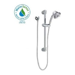 """American Standard - American Standard 1662.743.295 Satin Nickel FloWise Multi-Function - Product Features:Fully covered under American Standard s limited lifetime warrantySuperior finishing process - finish covered under lifetime warrantyHand showers from American Standard are built to function flawlessly and last a lifetimeHand Shower Package Includes: wall supply, hose, slide bar, holding bracket, and hand showerDesigned to easily install with standard 1/2"""" wall supply elbows or shower arm divertersADA compliantAll hardware required for installation of hand shower is includedProduct Technologies / Benefits:FloWise Turbine Technology: As the 2012 EPA WaterSense partner of the year, American Standard shower faucets are acclaimed for saving water without sacrificing performance. Through the use of patented turbine technology, which pressurizes and spins the water into a satisfying, warm, and invigorating spray, FloWise showers save 40% more water than other brands/models. When costs of heated water are factored in, these showers easily pay for themselves throughout the life of their use. Lifetime warranty: As an American company, American Standard showers are built tough. Their products live longer in one place than most people do. Drip-free ceramic disc valves, high-grade lead-free brass alloys, and turbine shower heads cables name just a few of the features which make American Standard shower components the industryÂ's longest lasting. To back this up, all American Standard showers are covered under a lifetime warranty.Indestructible Finishes: Through employing only the best finishing practices, such as physical vapor deposition, American Standard faucet finishes are some of the strongest in the industry. When the finish is actually incorporated into the faucet, rather than a coating on the outside, the result is a flawless appearance that eliminates tarnishin"""