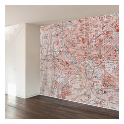 WallsNeedLove - Roman Map Wall Mural Decal - They say home is where the heart is...we say home is where you put a giant mural on your wall to mark where you heart is...Italy!
