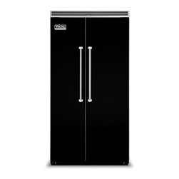 "Viking 42"" Built-in Side By Side Refrigerator Black 