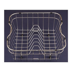 Houzer - Wire Rinsing Basket for Kitchen and Bar-Prep - Rinsing basket. Fits ED-3108, EC-3208, MD-3109, MS-1708. T304 stainless steel with protective plastic feet. Rinsing Basket with plate racks. 14.75 in. x 15.25 in. x 5.5 in.H Rinsing Basket. T304 Premium Stainless Steel. 1 Year Warranty. 14.75 in. W x 15.25 in. H x 6 in. D