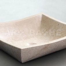 Modern Bathroom Sinks Vortex Stone Vessel By Art-Bathe