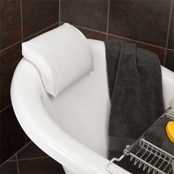 Deluxe Arched Bath Pillow - Create an at-home spa with the addition of the Deluxe Arched Tub Pillow to your bathtub, featuring four suction cups that easily secure the pillow to a smooth-walled tub. The contoured design and cushion fill will provide the ultimate in comfort and support.