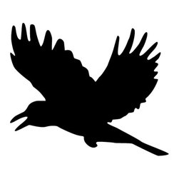 "My Wonderful Walls - Crow Stencil for Painting - - Measures 6.5""w x 5.5""h"