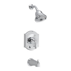 American Standard - Portsmouth Tub and Shower Faucet with Square Escutcheon in Polished Chrome - American Standard T415.502.002 Portsmouth Tub and Shower Faucet with Square Escutcheon in Polished Chrome.