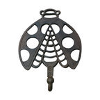 "AJchibp-2974-07 - Cast Iron Lady Bug Single Hook Wall Hanger - Cast iron lady bug single hook. wall hanger. Measures 9 "" x 7 "". No assembly required."