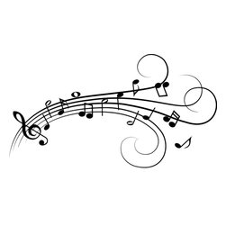 Dana Decals - Music Notes Wall Decal - Ideal for homes, kids rooms, and schools.