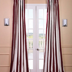 Half Price Drapes - Cabana Burgundy Printed Cotton Curtain 50 x 84 - - Our Printed Cotton Curtains and Drapes provide a casual feel to any window. Choose from a wide range of patterns to suit any decorative style. These drapes and curtains are tailored from the finest 100% Cotton. Great attention is given to each step of the production process. They are finished with a weighted hem and shade-enhancing lining.   - 100% Cotton   - Includes a cotton lining   - Dry Clean   - Single Panel   - 3 Rod Pocket with Back Tab   - Additional Hardware Necessary: Pole Pocket with Back Tabs Half Price Drapes - PRTW-D-15-84