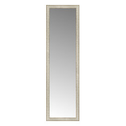 """Posters 2 Prints, LLC - 18"""" x 62"""" Libretto Antique Silver Custom Framed Mirror - 18"""" x 62"""" Custom Framed Mirror made by Posters 2 Prints. Standard glass with unrivaled selection of crafted mirror frames.  Protected with category II safety backing to keep glass fragments together should the mirror be accidentally broken.  Safe arrival guaranteed.  Made in the United States of America"""